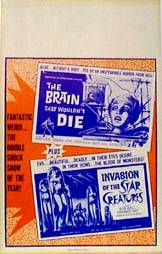 image of The Brain That Wouldn't Die / Invasion of the Star Creatures movie poster